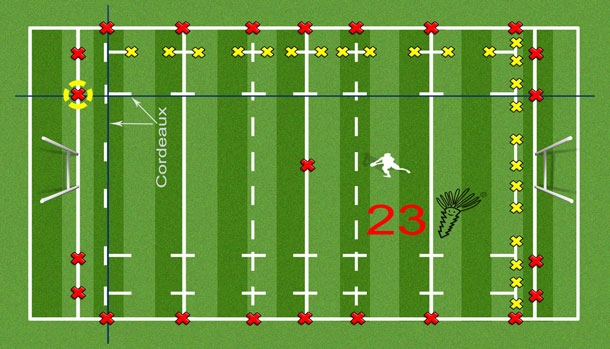 Tracage terrain de rugby